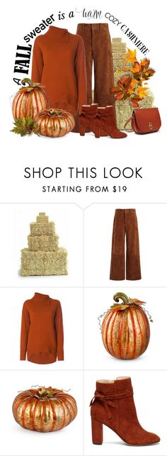 """""""A cozy sweater"""" by outfitsloveyou ❤ liked on Polyvore featuring Joseph, Improvements, Sole Society and Mulberry"""