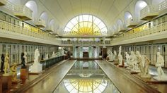 La Piscine, Roubaix, Lille - a former art deco swimming pool transformed in to a delightful museum of art and industry Cool Swimming Pools, Best Swimming, Cool Pools, Les Petits Frenchies, Glazed Brick, Saint Sauveur, Art Nouveau Furniture, Greek Statues, Alberto Giacometti