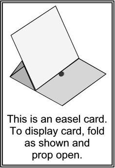 Easel Card sticker