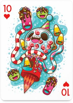 10 of Hearts by Caramelaw - http://playingarts.com/cards/caramelaw/
