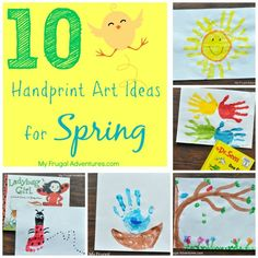 10 Spring Handprint Art Ideas for Children - so fun and wonderful keepsakes!