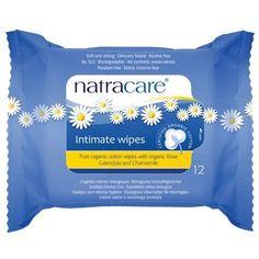 Natracare Organic Cotton Intimate Wipes - 12 ea