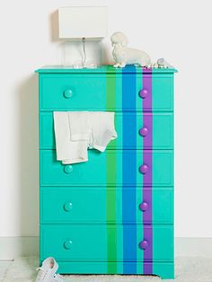 Go asymmetrical in your pattern placement for a unique twist! http://www.bhg.com/decorating/makeovers/furniture/paint-furniture/?socsrc=bhgpin022515diyideas&page=8