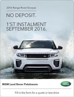 2016 Land Rover Evoque - Start Paying in September - No Deposit Range Rover Evoque, Driving Test, September