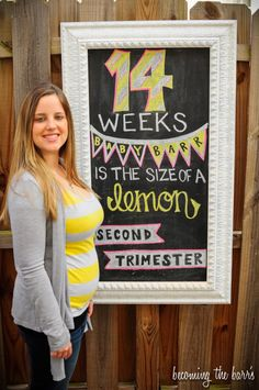 14 weeks pregnant chalkboard pregnancy tracker! littlebabygarvin inspired