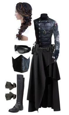 """Female Winter Soldier Costume"" by timber014 ❤ liked on Polyvore featuring Vince Camuto"