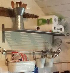 Ikea Kitchen Shelf Rail Hooks Set Stainless Steel Pot Pan Rack - Ikea kitchenware