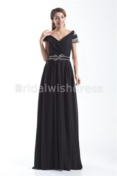 Beading Floor-Length Sheath/ Column Chiffon Elastic Woven Satin Mother of the Bride Dresses
