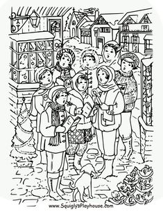 Christmas Coloring Pages For Kids With Images Dover Coloring