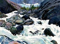 Icy White Water from the Mary Vaux Glacier. Greg Johnson