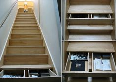staircase storage! this would be a practical place to store shoes as you take them off at the front door, as pictured here: http://www.decoralis.com/escaleras-zapatero-la-mejor-manera-de-ahorrar-espacio-en-casa