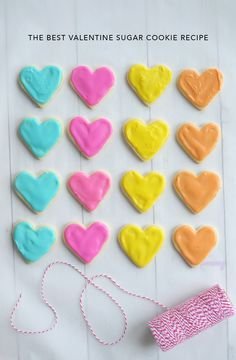 Such a fun and sweet treat for Valentine's Day –the Best Valentine Sugar Cookie Recipe.