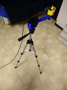 3D scanner with stand. Blue parts were printed for me by my friend