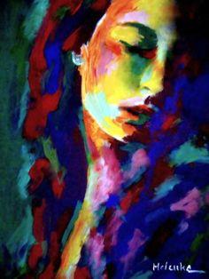 "Saatchi Art Artist Helena Wierzbicki; Painting, """"Glow in shadows"""" #art"