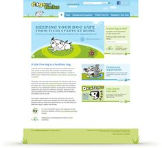 """Digital agency Raka provided website design and development for this IDEXX website called Dogs & Ticks. The website features content about the effect of tick bites on dogs, and gives pet owners knowledge to keep their dog protected. With a risk assessment application, a """"Pacman"""" style game, a photo upload tool to make a custom photo, and social media integration, this website is a fun resource for all dog lovers."""