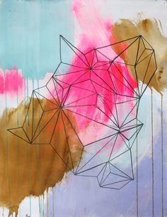Kayla Newell is an artist living and working in Portland, Oregon, we love the loose painterly, geometric and fun style that runs through her work and her c