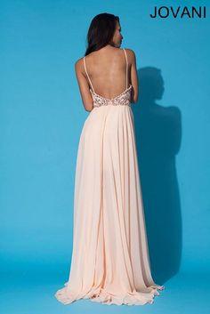 Jovani 92605 - blush backless wedding dress