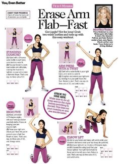 some good exercises to get rid of that arm flab