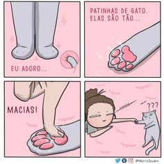 27 Hilariously Cute Relationship Comics That Will Make Your Day - Meh (me) - Cats Memes Chats, Cat Memes, Funny Memes, Cat Comics, Funny Comics, Funny Animal Comics, Animal Humor, Cute Funny Animals, Funny Cute