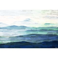 Found it at Wayfair - Mountain Tops Painting Print on Wrapped Canvas