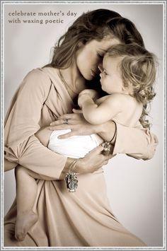 Love the bond of motherhood - Waxing Poetic jewelry shown also...