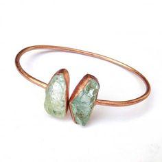 Natural raw gemstone Bangle, Bracelet, Aquamarine, Apatite, Tanzanite, Larimar, Tourmaline Amethyst Raw gemstone Jewelry wholesale