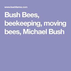 Bush Bees, beekeeping, moving bees, Michael Bush
