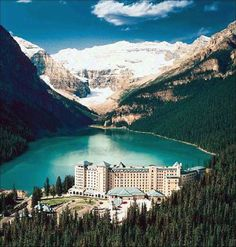 An absolutely stunning photo of the Fairmont Lake Louise- even more beautiful in person :)