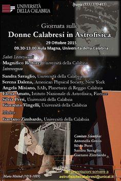 Giornata sulle Donne Calabresi in Astrofisica