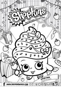 Shopkins Colour Color Page Cupcake Queen ShopkinsWorld so cute