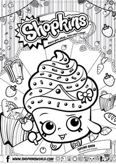 Shopkins Colour Color Page Cupcake Queen Shopkinsworld Shopkins