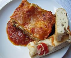 Lasagna with Sausage and Spinach