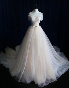 simple off shoulder champagne long prom dress, wedding dress, Customized service and Rush order are available Cheap Bridal Dresses, Cheap Wedding Dresses Online, Wedding Dresses 2018, Bridal Gowns, Dress Wedding, Lace Wedding, 2017 Bridal, 2017 Wedding, Trendy Wedding