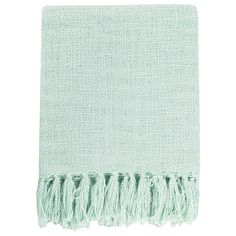 Surya Tilda Mint Throw Blanket Laylagrayce Green Bedding Blue Cotton
