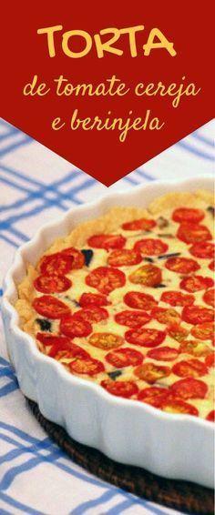 Confira a receita dessa deliciosa de tomates cereja com berinjela.