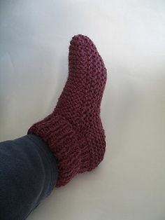 Easy Knitting Pattern For Short Row Slippers : 1000+ images about CHAUSSONS - SLIPPERS on Pinterest ...