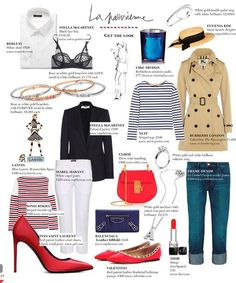 La Parisienne Wardrobe - the basic pieces that make up the typical wardrobe of a French woman