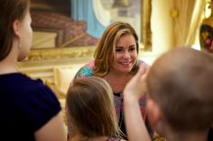 Luxarazzi:  Grand Duchess Maria Teresa welcomed children from KannerKlinik (the Children's Hospital of Luxembourg) to the Grand Ducal Palace, March 28, 2014
