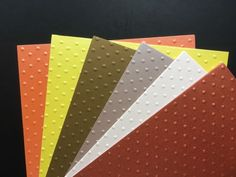 *NEW STOCK* 12 Sheets Embossed Pearl Card, A5, Polka Dots, RUST/COPPER/YELLOW Emboss, A5, Rust, Polka Dots, Copper, Pearls, Yellow, Crafts, Manualidades
