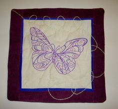 Butterfly Pillow Cover  Purple and Blue Hand by KarenHeenan, $35.00 SOLD