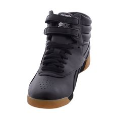 Reebok - Freestyle Hi Fitness Sneakers - Black Jeans And Sneakers, High Top Sneakers, Reebok Freestyle, Sneaker Stores, Best Jeans, Lace Up, Heels, Fitness, Leather