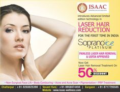 Considering laser hair removal? Get it done by Soprano Ice Platinum laser that offers superior results with the highest level of comfort and safety! Schedule your appointment today. #LaserHairRemoval#SopranoIcePlatinum#UnwantedHairs#IsaacWellness