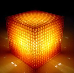 Open Cube Table Lamp, 2005 by Materialise.MGX    Technique: Stereolithography (SLA)  Material: Epoxy   6 X 6 X 6 inches