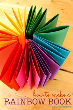 how to make a rainbow zigzag book and encourage lots of writing and sketching - simple book tutorial Rainbow Activities, Rainbow Crafts, Art Activities For Kids, Spring Activities, Literacy Activities, Art For Kids, Crafts For Kids, Weather Activities, Math Literacy
