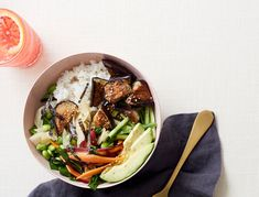 Since all the elements in this Asian grain bowl can be prepped in advance, you wont be stressed at crunch time.