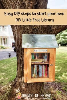 How to Start a Little Free Library in Your Yard - The Mom of the Year