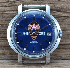 NEW N.O.S  Soviet USSR Russian watch VOSTOK WOSTOK cal 2414A    Length 45 mm Diameter 40 mm Diameter with crown 42 mm  ORIGINAL 100% Сondition on the photo!!!