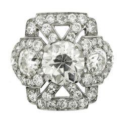 Art Deco Diamond Cluster Ring (c. 1920 Europe)