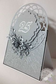 An Elegant Touch...: 25th Anniversary Card & BoxEnvelope - for Friends