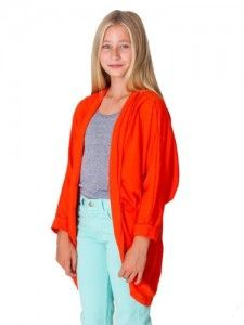 Sweater American Apparel Youth Shawl Cardigan – Poppy   8-10 Years Get  Rabate Shawl 696b7c03e